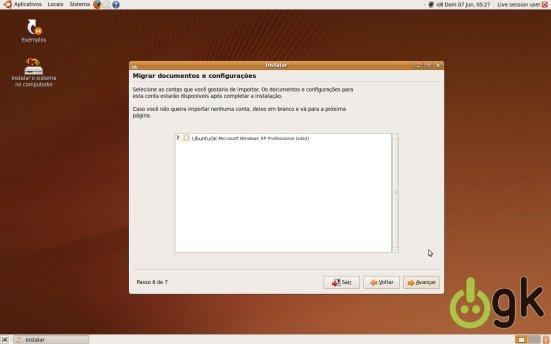 Importar Configurações - Instalação Ubuntu 9.04